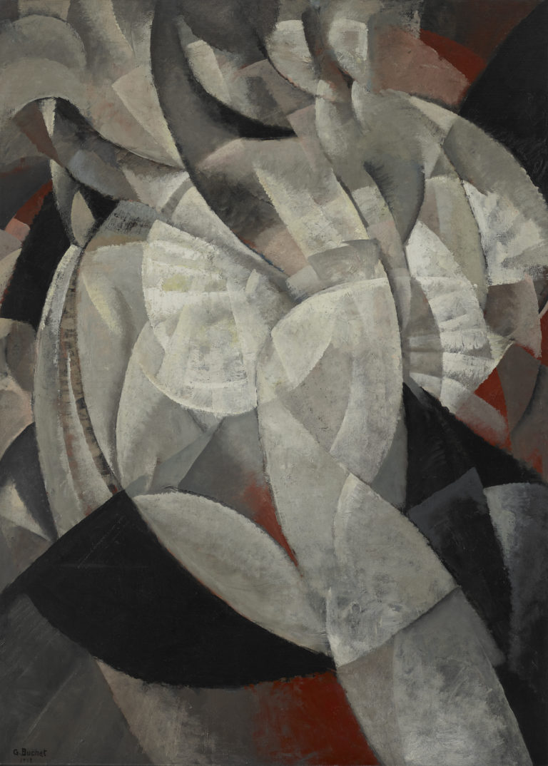 Gustave Buchet , Danseuse en mouvement, 1918
