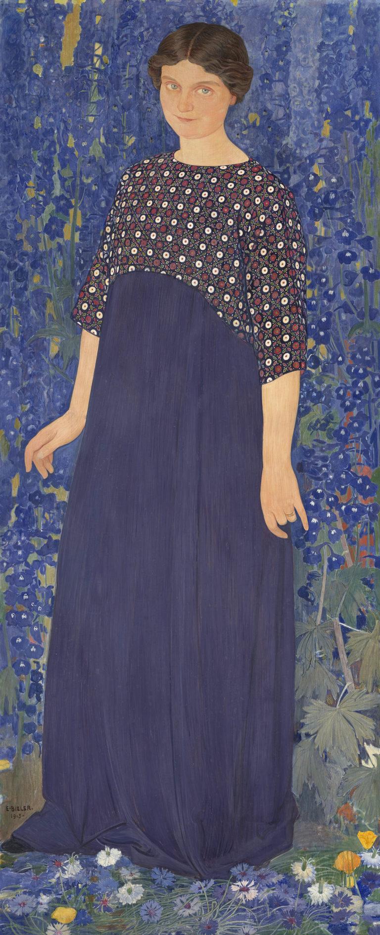 Ernest Biéler, Femme en bleu,  1913