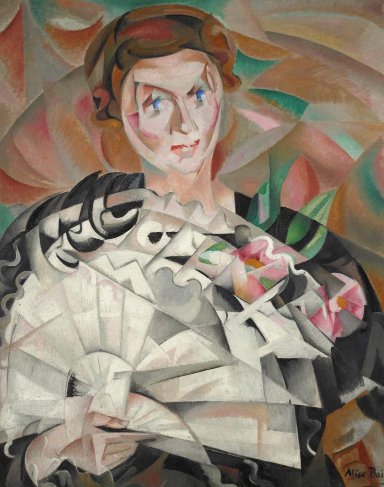 Alice Bailly, Jeu d'éventail ou Femme à l'éventail, 1913