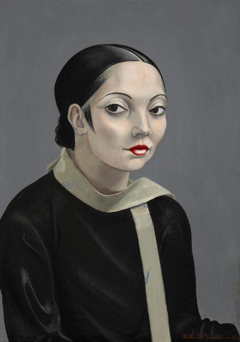 Niklaus Stoecklin , Portrait de Tatjana Barbakoff, 1929