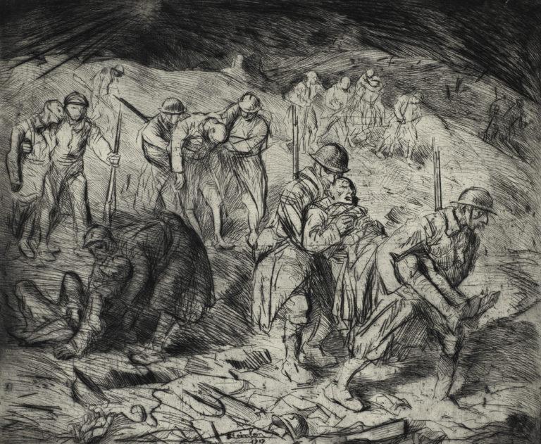 Théophile-Alexandre Steinlen, Les échappés de l'enfer II, 1917
