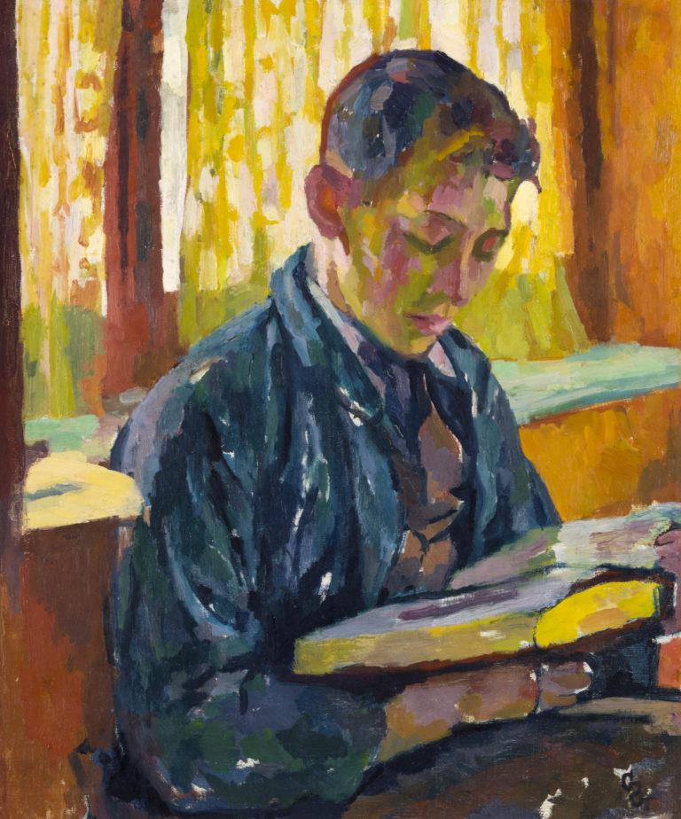 Giovanni Giacometti, Alberto che legge, vers 1915