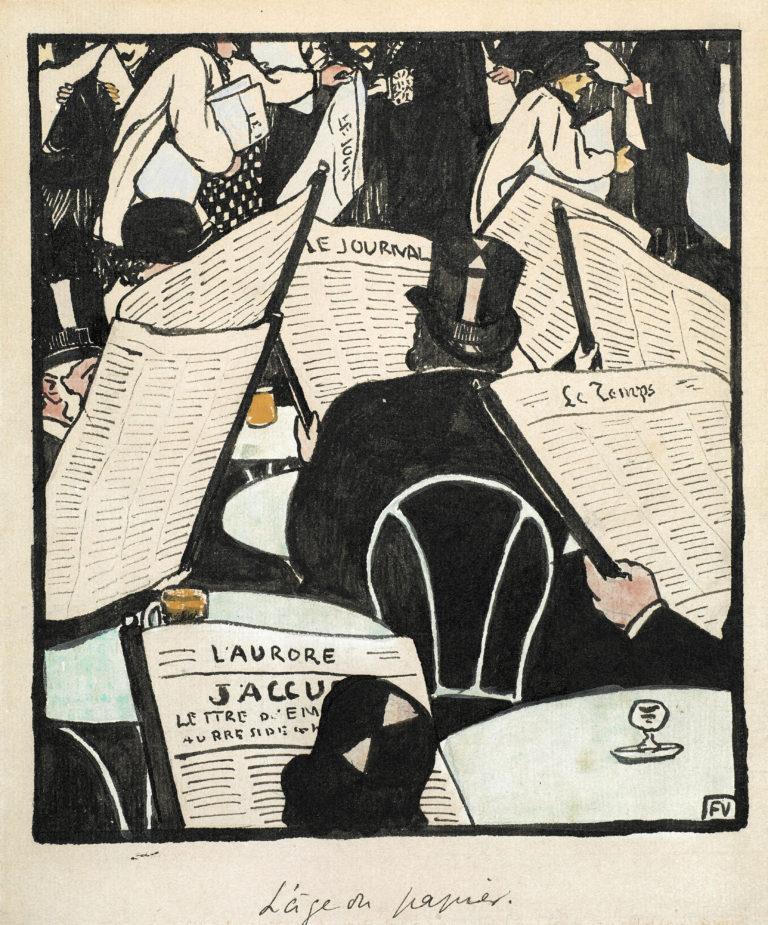 Félix Vallotton, L'âge du papier. Dessin pour « Le Cri de Paris », 1898