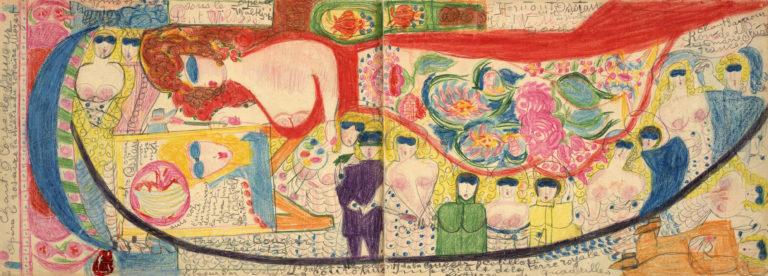 Aloïse (Aloïse Corbaz, dite) , La Couronne Impériale de la terre royale. Cahier Pâques 1943, 1943