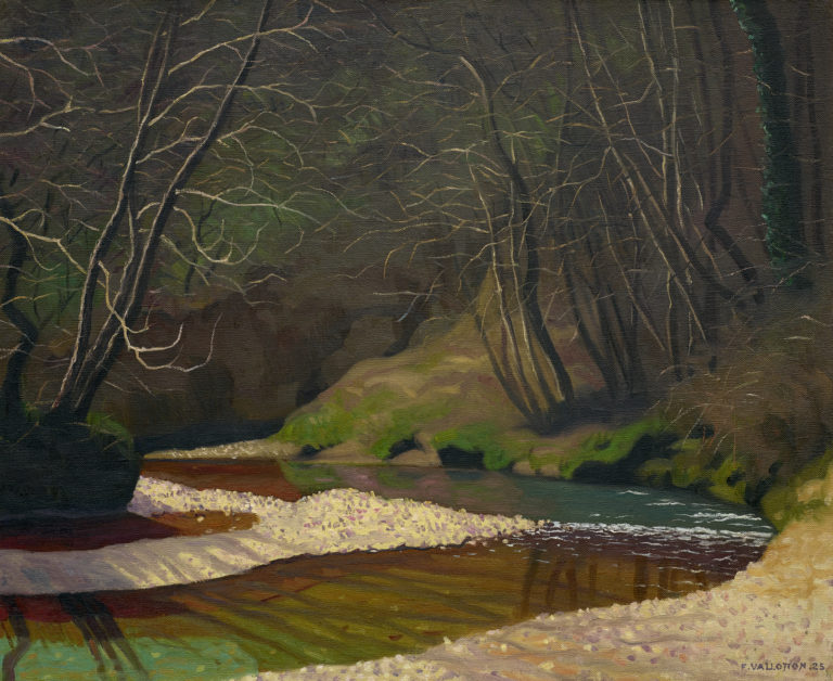 Félix Vallotton, Ruisseau rouille et galets blancs (Rust Stream and White Pebbles), 1921
