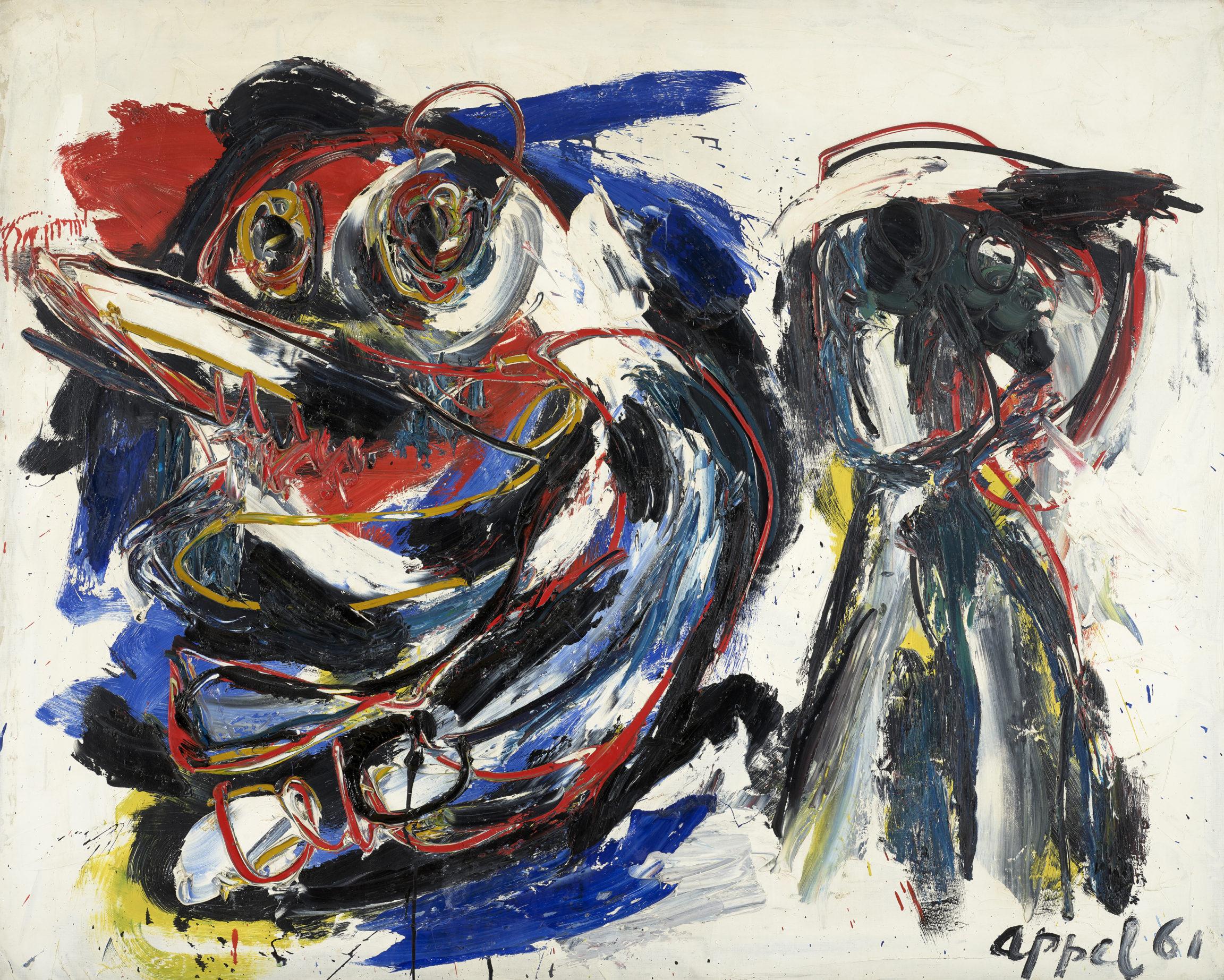 Karel Appel , Varkensmens (Pig Man) or L'arcade (The Arcade), 1961