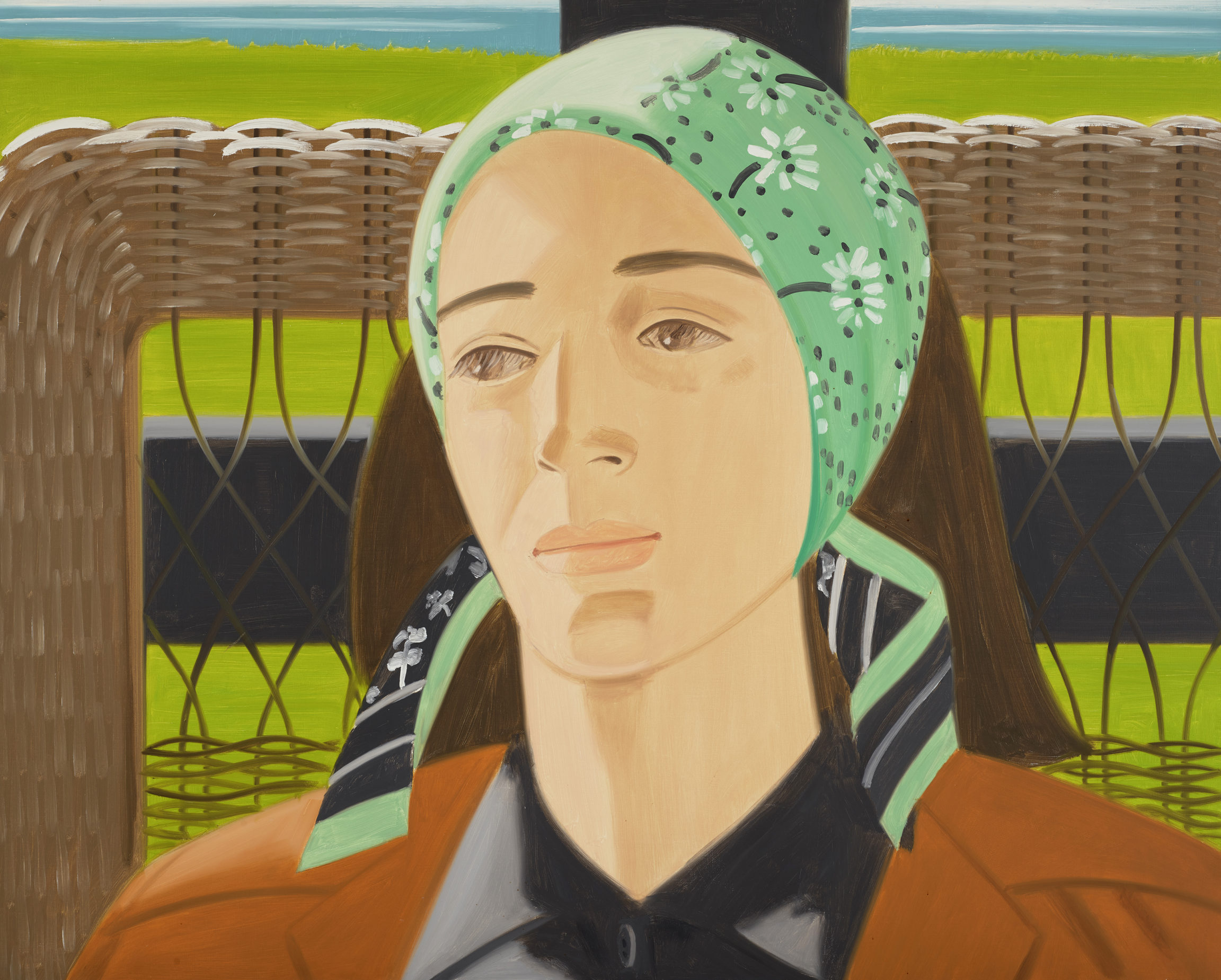 Alex Katz , Green Scarf, 1975