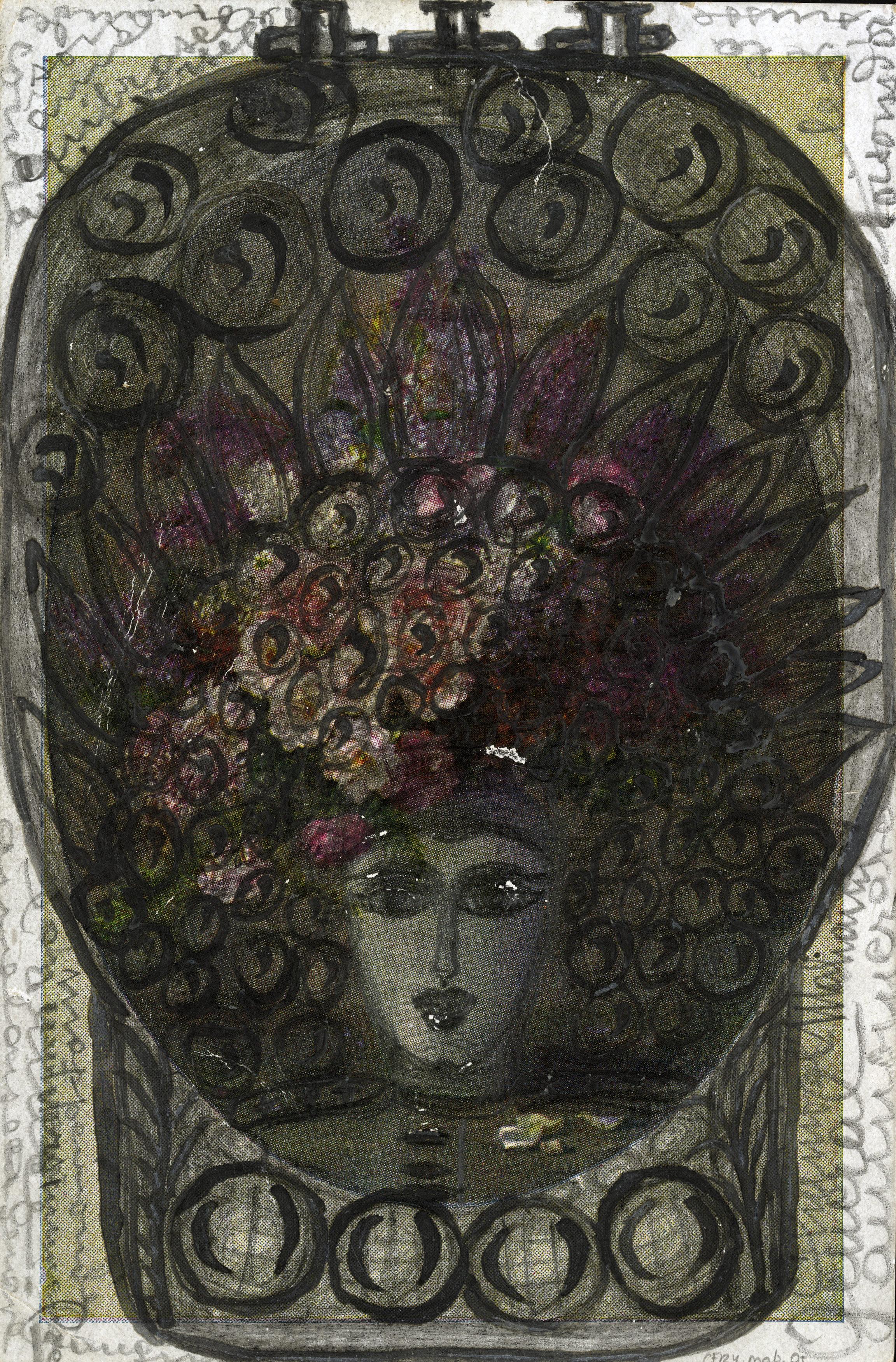 Aloïse (Aloïse Corbaz, dite) , Materdolorosa, 1922