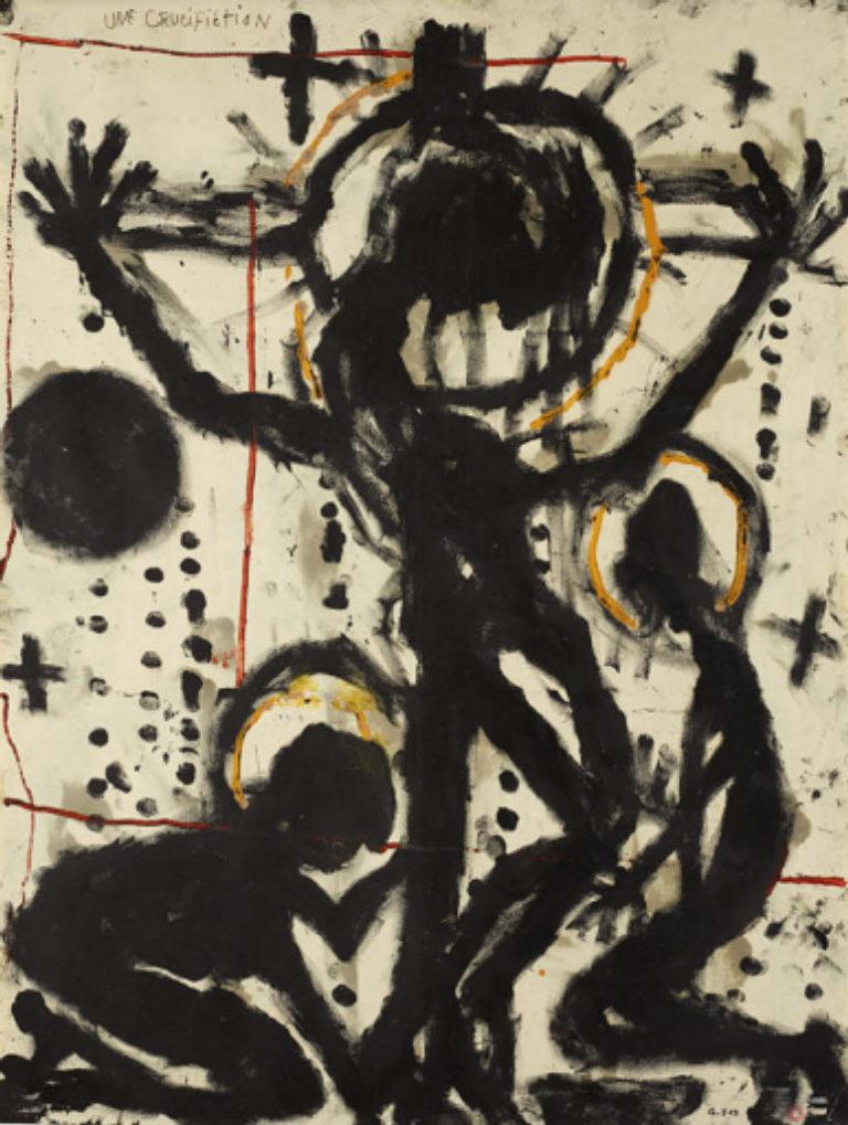 Louis Soutter, Une Crucifiction, entre 1937 et 1942