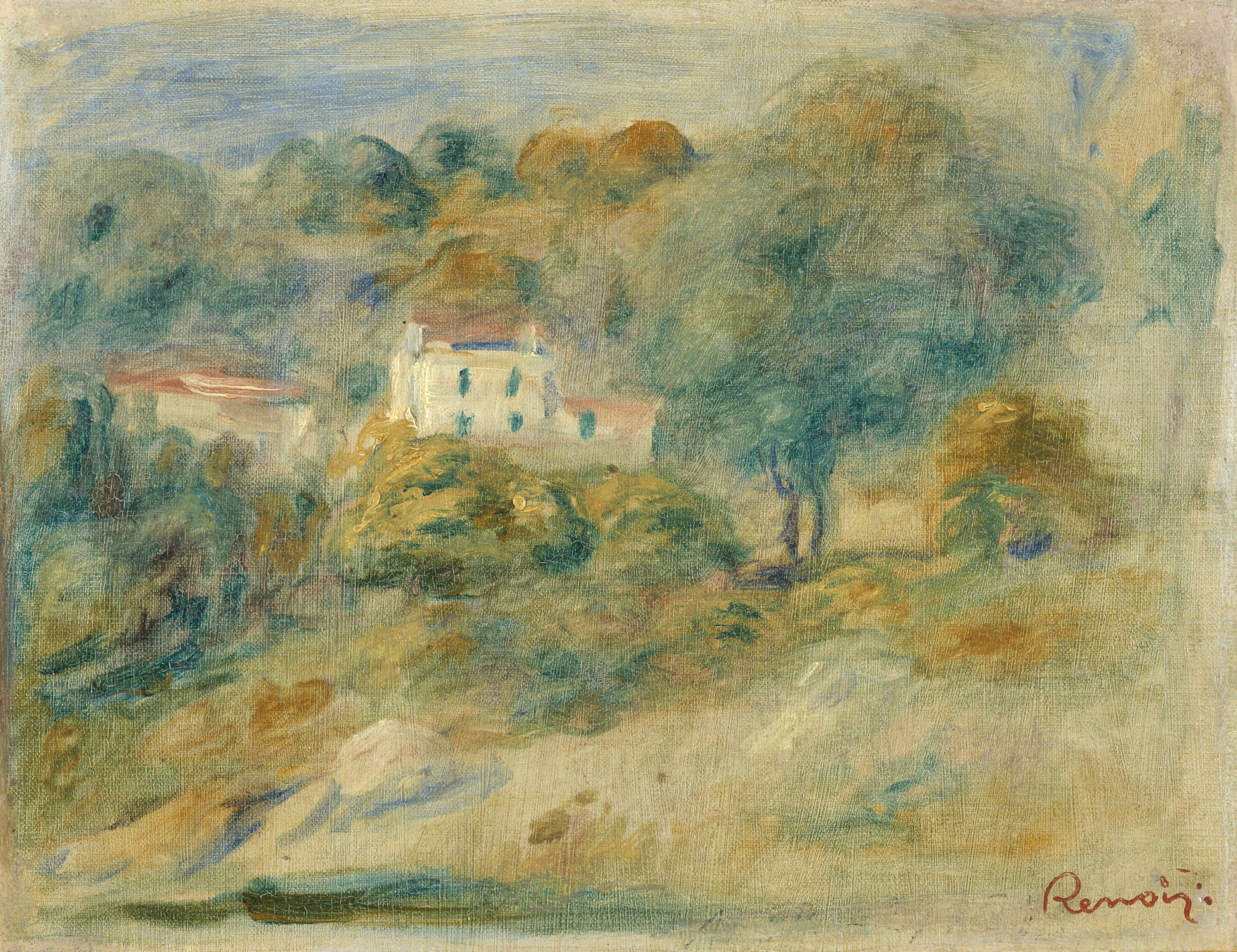Auguste Renoir , Paysage du Midi, vers 1910 (?)