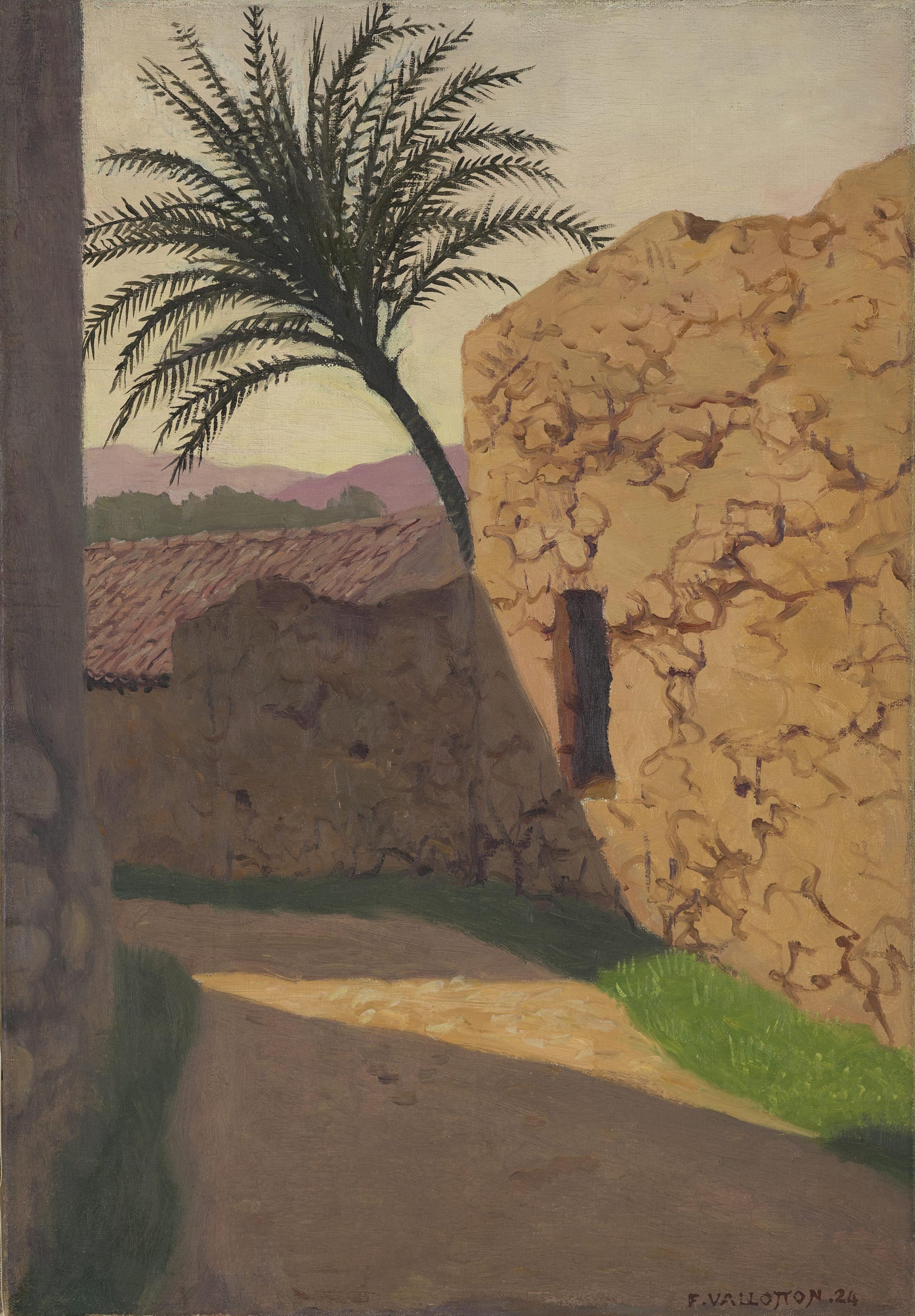 Félix Vallotton, Le palmier, Cagnes, 1920
