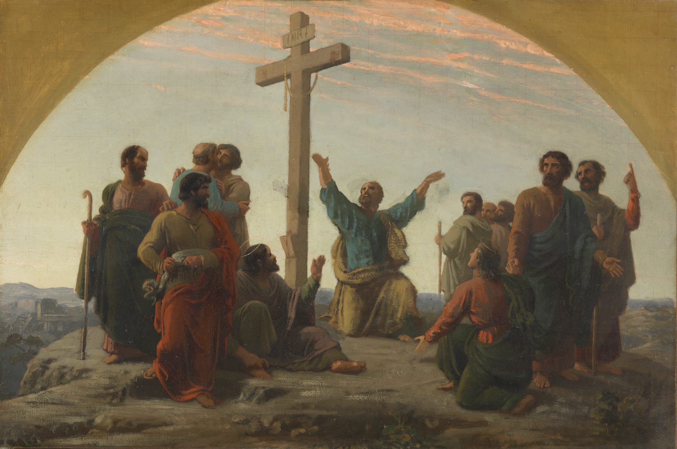 Charles Gleyre, Esquisse pour «La séparation des apôtres», 1844-1845