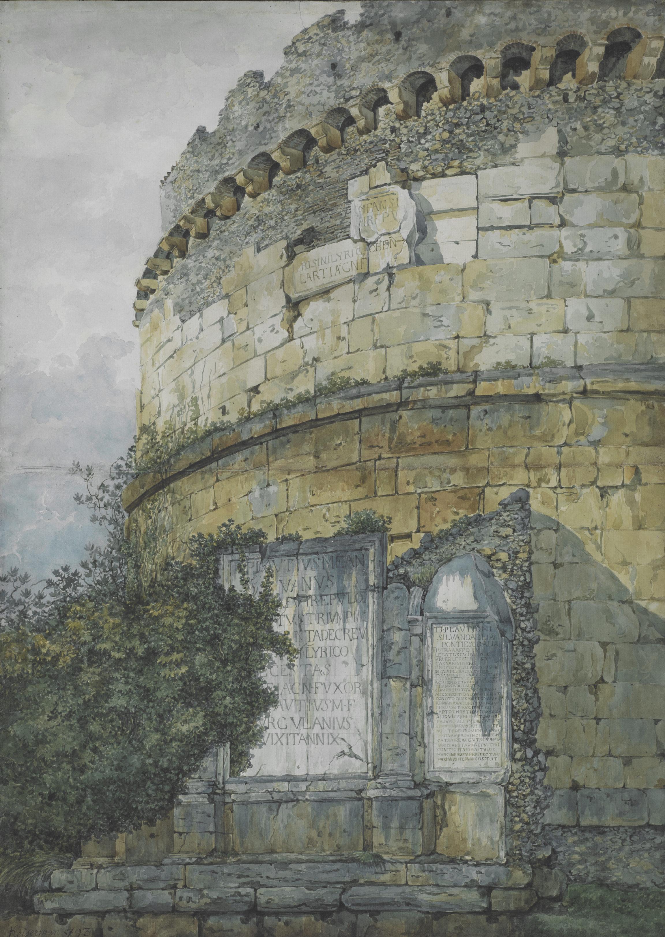 François Keiserman, Le tombeau de Plautius sur la route de Tivoli, 1793