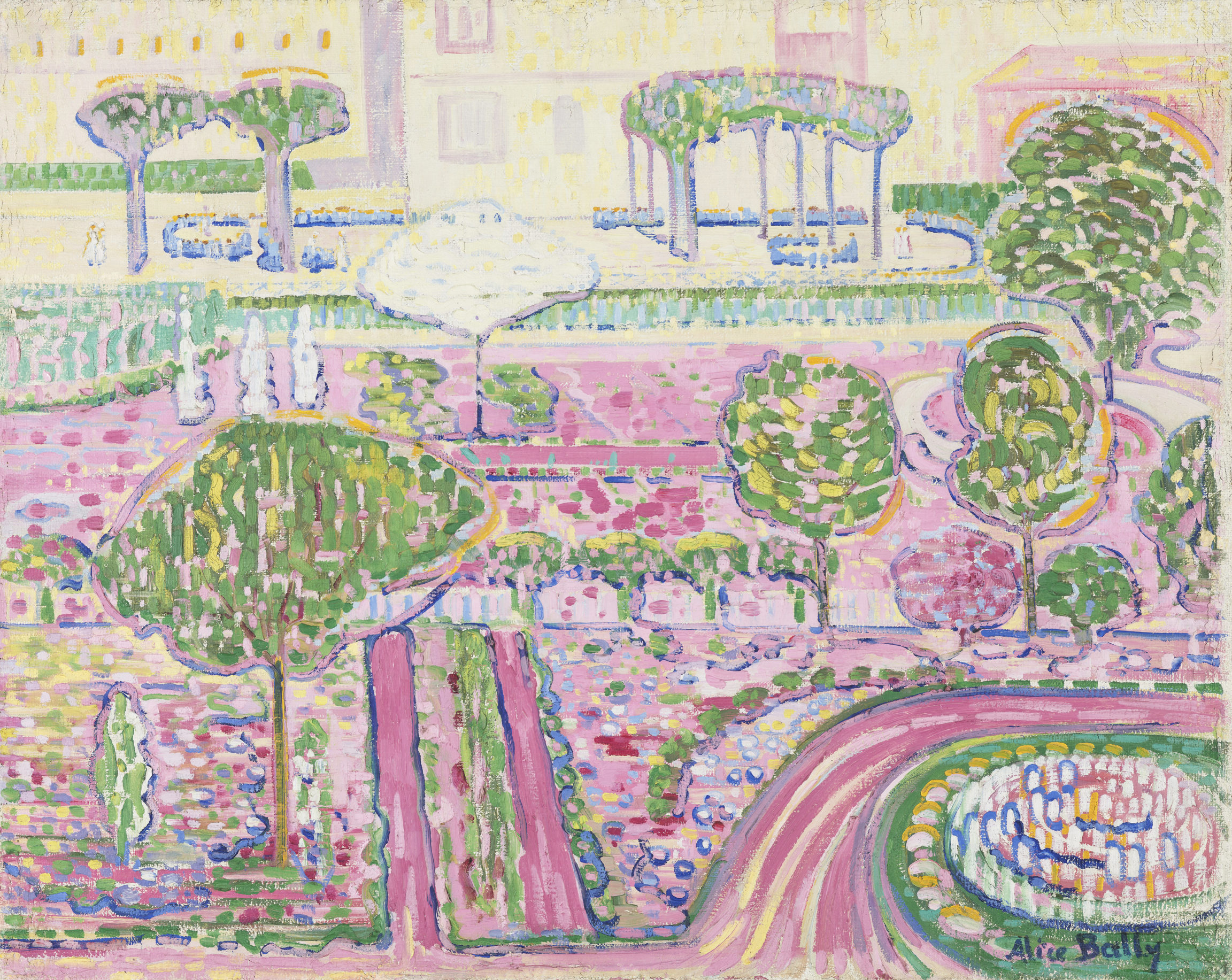 Alice Bailly, Le jardin rose, 1907